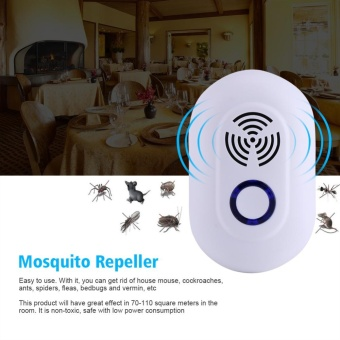 Multi-function Ultrasonic Household Pest Control ElectronicMosquito Insects Repeller- US Plug - intl