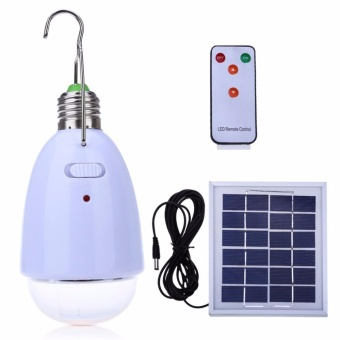 Multi-functional 4 in 1 LED Solar Lamp -12 Super Bright LEDs-Dimmable Function with an infrared remote control-Solar Barn /Camping / Emergency Light - intl