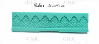 Multi-lace pattern sugar mold Silicone