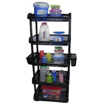 Multi Purpose Stack-able Rack 5 Layer ( Black) Price Philippines