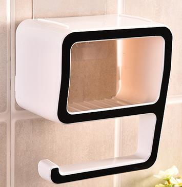 Multi-purpose suction wall bathroom adhesive hook storage box