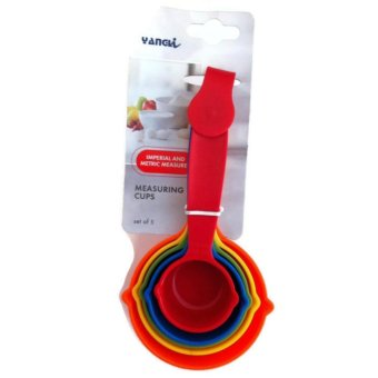 Multicolor Kitchen Cooking Baking Measuring Cups Set of 5