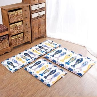 Multicolor Nonslip Carpet Shower Floor Flannel Home Bath Rug Tub Pad Mat - intl - 3