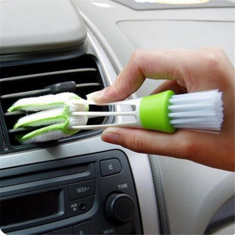 Multifunction Cleaning Brush For Car Indoor Air-condition CarDetailing Care Brush Tool-2pcs - intl