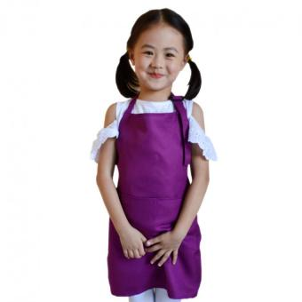 Multifunctional Kid''s Kitchen Aprons (Purple)' Price Philippines