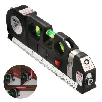 Multipurpose Laser Level laser measure Line 8ft+ Measure Tape RulerAdjusted Standard and Metric Rulers