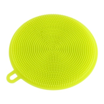 Multiuse Silicone Soft Bowl Dish Kitchen Cleaning Tool Brush Green- intl - 5