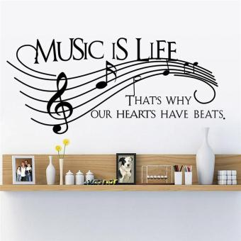 music is life quotes sheet music fashion design living room wallstickers bedroom decals vinyl home decor mural art wallpaper - intl Price Philippines