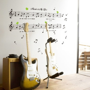 Musical Instrument piano music stickers wall adhesive paper
