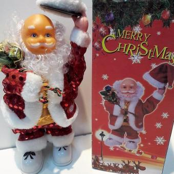Musical Moving Figure Dancing Santa Claus With Music - 2