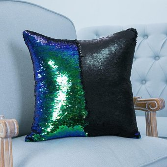 MUXUAN / Mu Xuan two-color Sequin * hot mermaid pillowcases cotton hemp car sofa cushions Price Philippines