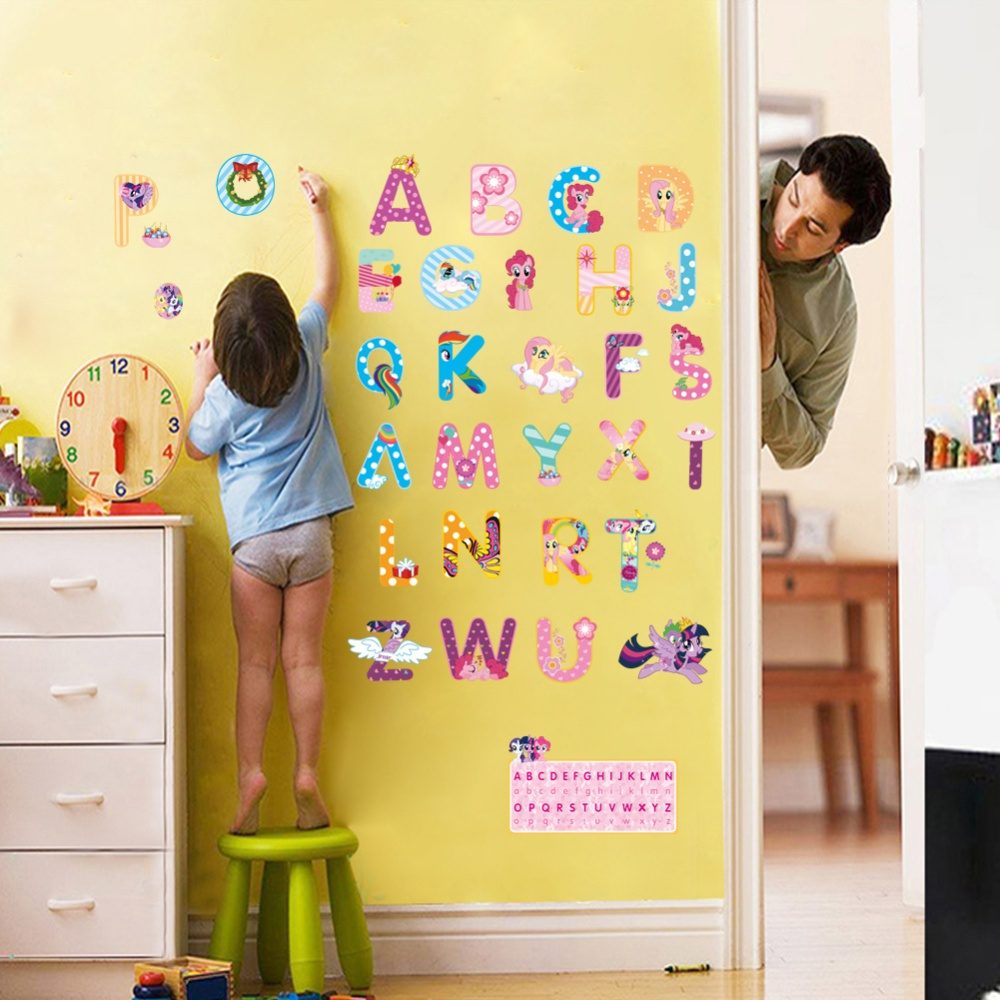 Philippines   my little pony design alphabet letters wall stickers ...