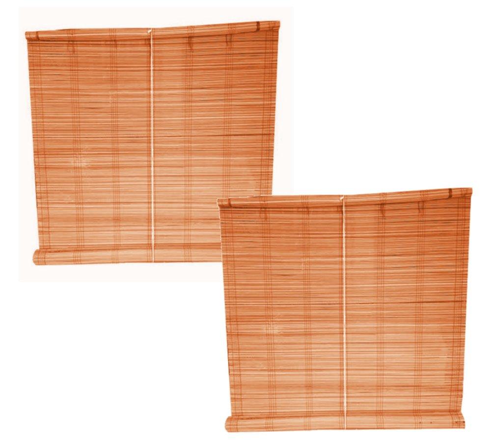 Native Bamboo Window Blinds Set of 2 Brown Lazada PH