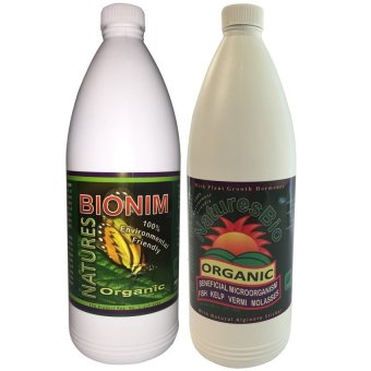 Natures Bio Set for Plants 1L Set of 2 (White) Price Philippines