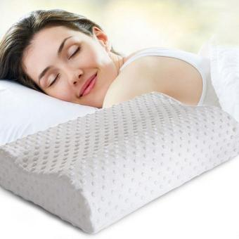 Neck Pillow Fiber Slow Rebound Memory Foam Pillow Cervical HealthCare Orthopedic Latex Neck Foam Pillow - intl Price Philippines