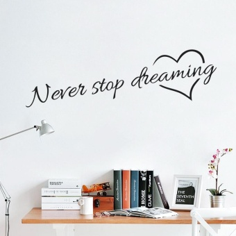 never stop dreaming inspirational quotes wall art bedroom decorative stickers 8567. diy home decals mural art poster vinyl paper - intl Price Philippines