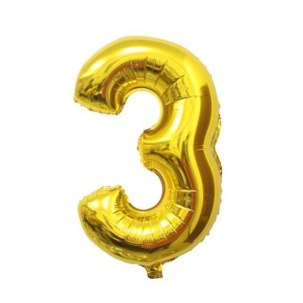New 16 INCH Small Foil Number Balloons Birthday Wedding Party Decoration Gold3