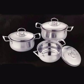New 2017 Best Home Best Quality Stainless Steel Ware 3 pcs KitchenCamber Pot