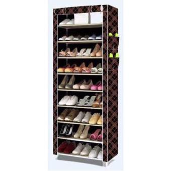 New 2017 Color Shoe Cabinet Shoe Rack Organizer (Brown)