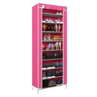 New 2017 Color Shoe Cabinet Shoe Rack Organizer (Pink)