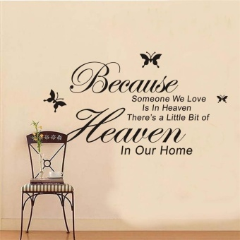 New Because Someone We Love Is In Heaven Sayings Words Home DecorWall Stickers(Color:Black) Price Philippines