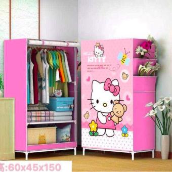New Cabinet Clothes Wardrobe Storage for Kids Children -Size 60 x45x 145- Style 2