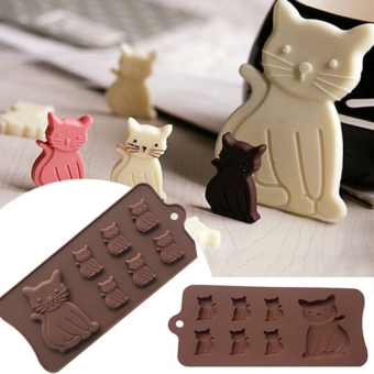 New Cat Kitten 7 Cavity Silicone Mold for Fondant, Gum PasteChocolate Crafts - intl Price Philippines