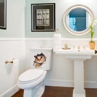 New Cat Toilet Seat Wall Sticker Art Removable Bathroom DecalsDecor - intl - 4