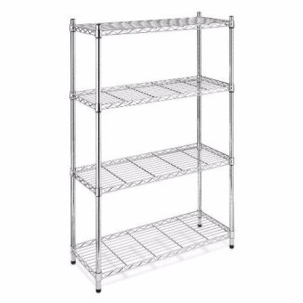 NEW Chrome Storage Rack 4-Tier Organizer Kitchen Shelving CarbonSteel Wire Shelves