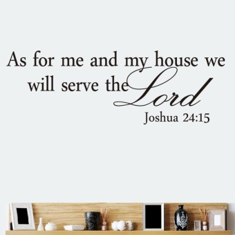 New Creative Waterproof Bible Verses Lord Quote Saying Wall Sticker Decor - intl Price Philippines