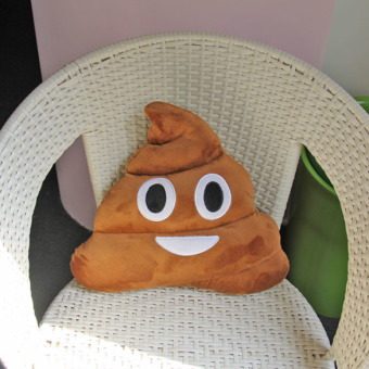 New Cute Emoji Cushion Poo Shape Pillow Stuffed Doll Toys Christmas Gifts - picture 2
