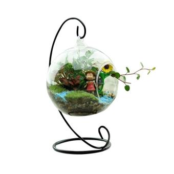 New Cute Glass Round with 1 Hole Flower Plant Hanging Vase Home Wedding Decor - intl Price Philippines