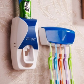 New Design Hands Free Toothpaste Dispenser with ToothBrush Holder