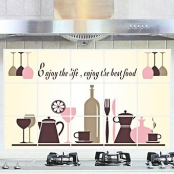 New DIY Kitchen Pattern Removable Vinyl Decal Home Decor Wall Sticker - intl