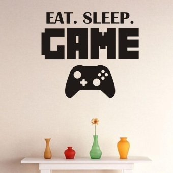 New Eat Sleep Game Version 2 Decal Sticker Wall Vinyl Art Design -intl - 2