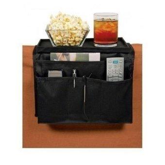 New Fashion 6 Pockets Sofa Handrail Couch Armrest Arm RestOrganizer Remote Control Holder Bag On TV Sofa Organizer (Color:Black) - intl - 2