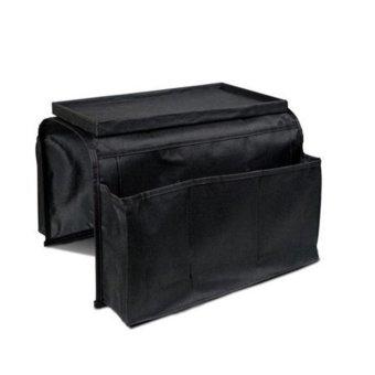 New Fashion 6 Pockets Sofa Handrail Couch Armrest Arm RestOrganizer Remote Control Holder Bag On TV Sofa Organizer (Color:Black) - intl - 3