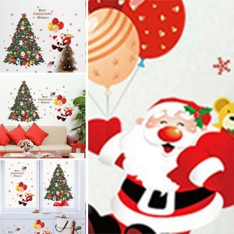 New Fashion Christmas Tree Santa Claus Bedroom Living RoomRemovable Decorative Wall Stickers - intl - 5