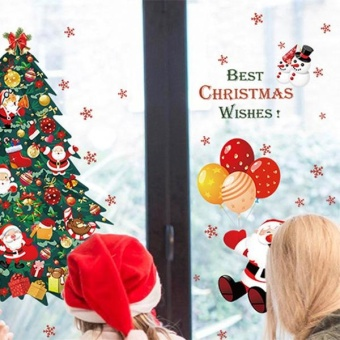 New Fashion Christmas Tree Santa Claus Bedroom Living RoomRemovable Decorative Wall Stickers - intl - 3