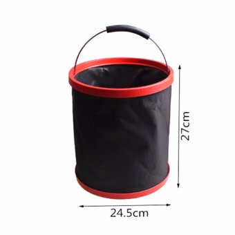 New Folding Bucket Car Washing Fishing Applicable Tub PortableOutdoor Camping 12L - intl - 4