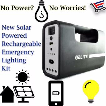 New GD Lite Solar Powered Rechargeable Emergency Lightning kit