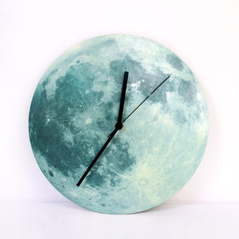 New Glow In The Dark Moonlight Moon Wall Clock wc1361