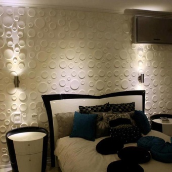 New PE Foam 3D DIY Wall Stickers Wall Decor Embossed Brick StoneWhite - intl - 3