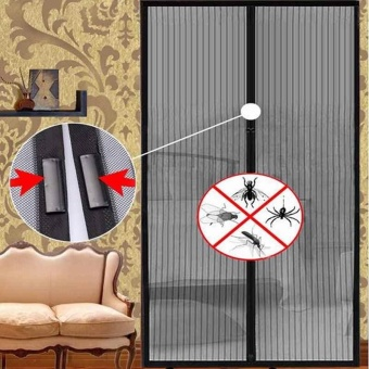 New Screen Door Curtain Mesh Hands Net Magnetic Anti Mosquito BugDivider Auto - intl