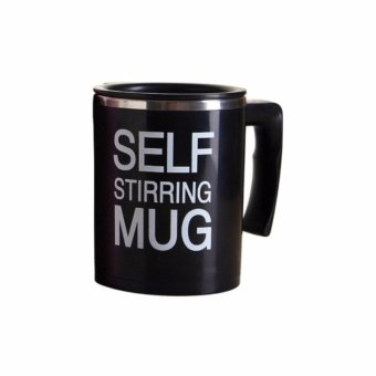 New Self Stirring Coffee Mug (Black)