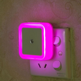 New Square Bedroom Lighting night light intelligent Light sensorbathroom mini lamp - intl