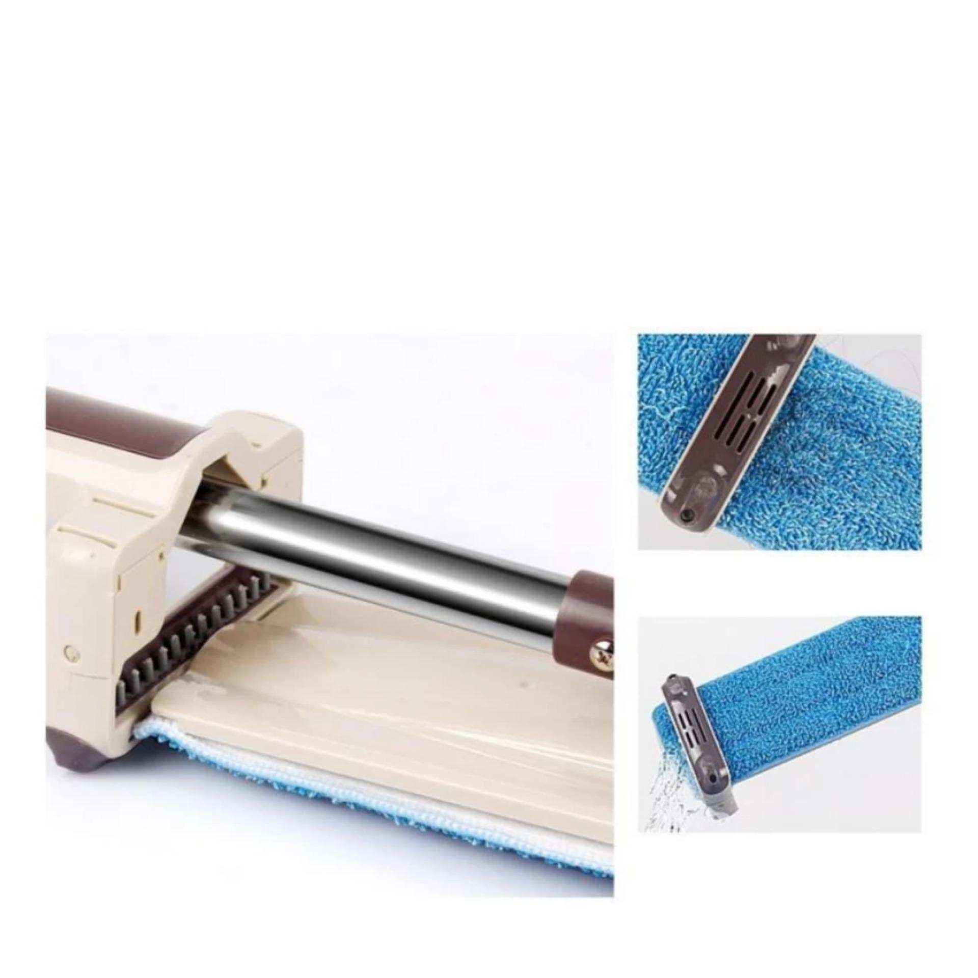 New Stand Up Dry Magic Mop with Self Cleaning Function (Brown)