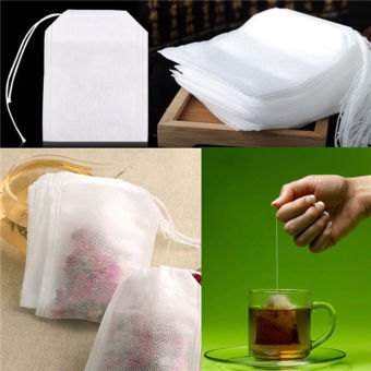 New Teabags 500Pcs/Lot 5.5 x 7CM Empty Tea Bags With String Heal Seal Filter Paper for Herb Loose Tea - intl