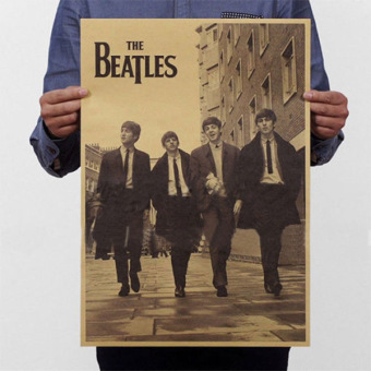 New The Beatles Rock Bands Music Poster Retro Kraft Paper Home Bar Pub Gifts - intl