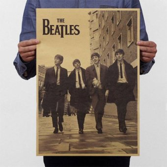 New The Beatles Rock Bands Poster Retro Kraft Paper Home Bar Pub Decor - intl Price Philippines